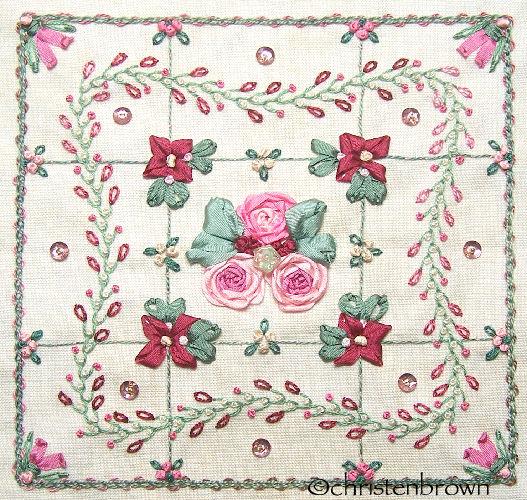 stitch along sampler block 9