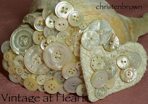 mother of pearl button hearts