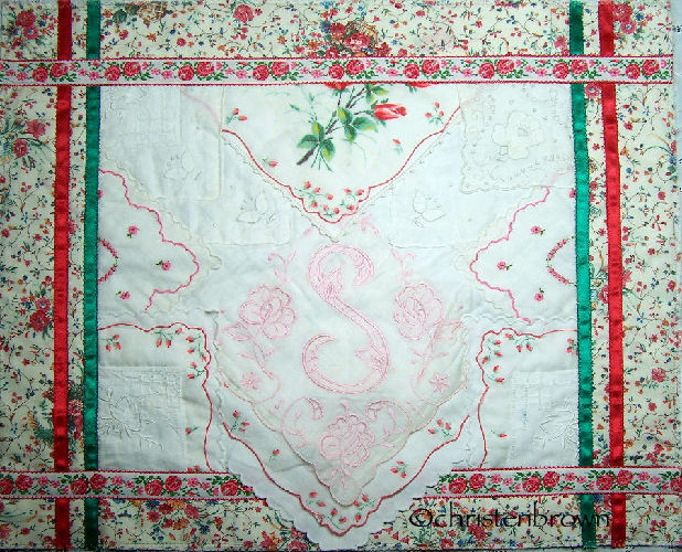 be my valentine hanky wall hanging
