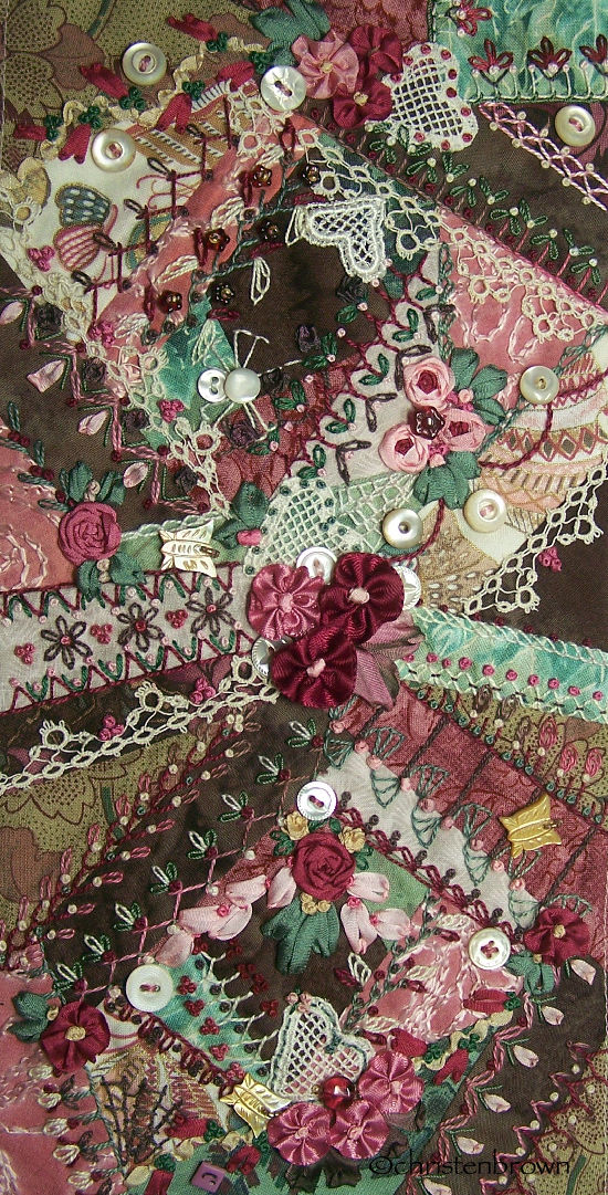 example of crazy pieced embroidery