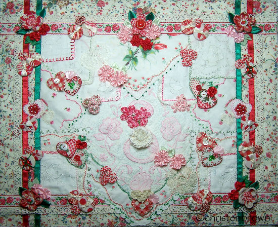 hanky base with vignettes